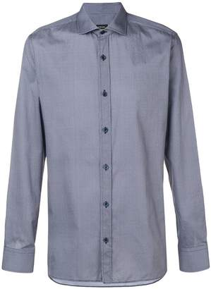 Ermenegildo Zegna micro geometric print shirt