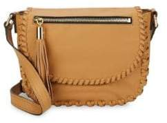 Milly Woven Leather Shoulder Bag