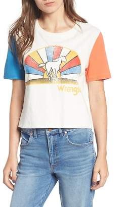 Wrangler Horse Graphic Crop Tee