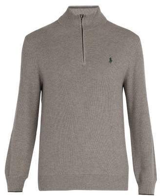 Polo Ralph Lauren Logo Embroidered Cotton Sweater - Mens - Grey
