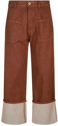 Loewe Patch Pocket Turn Up Jeans