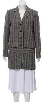 Marc Jacobs Belted Tweed Jacket Grey Belted Tweed Jacket