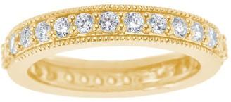 Affinity Diamond Jewelry Diamond Eternity Milgrain Band Ring, 14K, by Affinity