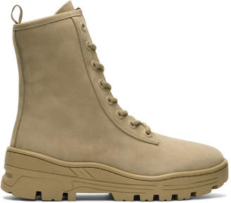 Yeezy Taupe Nubuck Military Boots