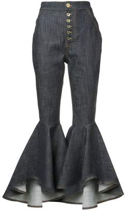 Ellery Hysteria crop flared jeans