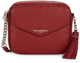 Karl Lagerfeld Paris Vera Leather Crossbody