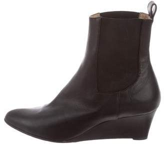 Michael Kors Leather Pointed-Toe Booties