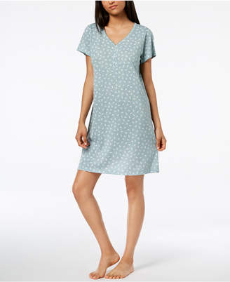 Charter Club Cotton Printed Sleepshirt