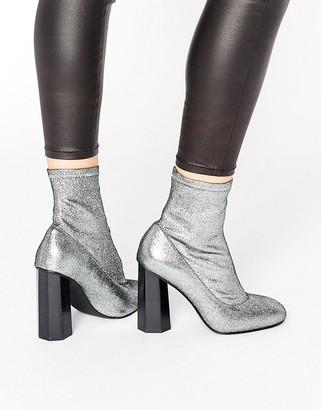 Senso Umar Ii Silver Stardust Stretch Sock Boots