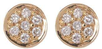 Bony Levy 18K Yellow Gold Round Pave Diamond Stud Earrings - 0.03 ctw