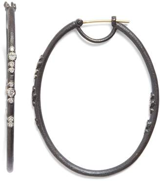 Armenta Old World Eternity Diamond Hoop Earrings