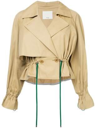 Tibi cropped trench coat