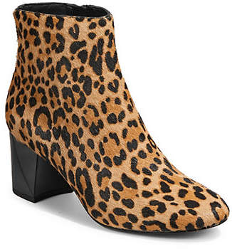 KENDALL + KYLIE Hadlee Leopard Fur Leather Ankle Boots
