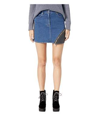 172a409e1 Sonia Rykiel Denim Mini Skirt with Side Zip