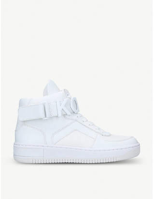 ddb3576730c23 MICHAEL Michael Kors Cortlandt leather and mesh high-top trainers