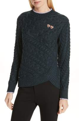Ted Baker Colour by Numbers Charo Cable Knit Sweater