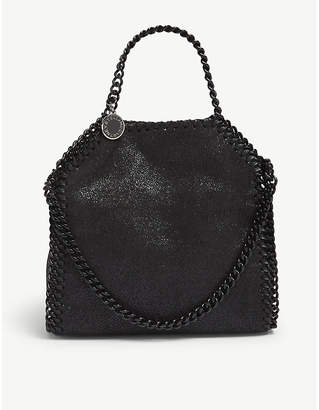 Stella McCartney Black Tiny Falabella Metallic Tote Bag