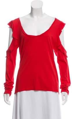 Pam & Gela Long Sleeve Scoop Neck Top w/ Tags