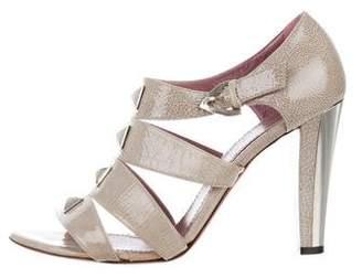 Jean-Michel Cazabat Embellished Patent Leather Sandals