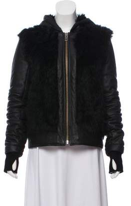 Helmut Lang Shearling Short Coat