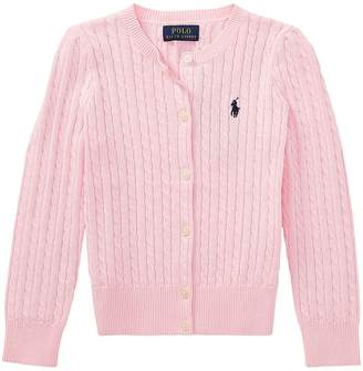 Polo Ralph Lauren Cable Knit Cotton Cardigan Girl's Sweater