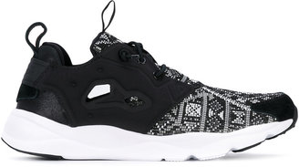 Reebok patterned stitch sneakers $102.47 thestylecure.com