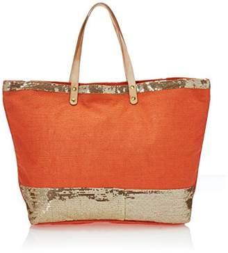 2Chic Jute Tote Bag W/Sequin Detail