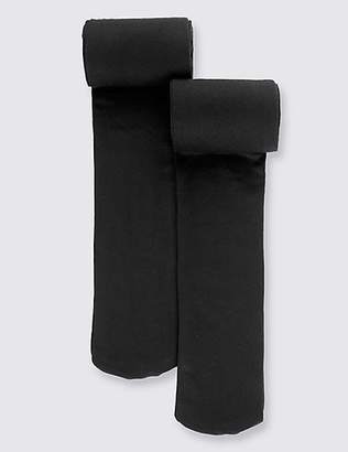 Marks and Spencer 2 Pairs of 60 Denier Tights (6-14 Years)