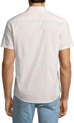 Slate & Stone Micro-Dandelion Short-Sleeve Sport Shirt