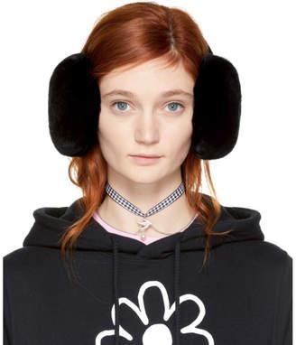 Miu Miu Black Fur Earmuffs