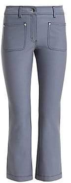 Derek Lam 10 Crosby Women's Top-Stitched Crop Flare Jeans