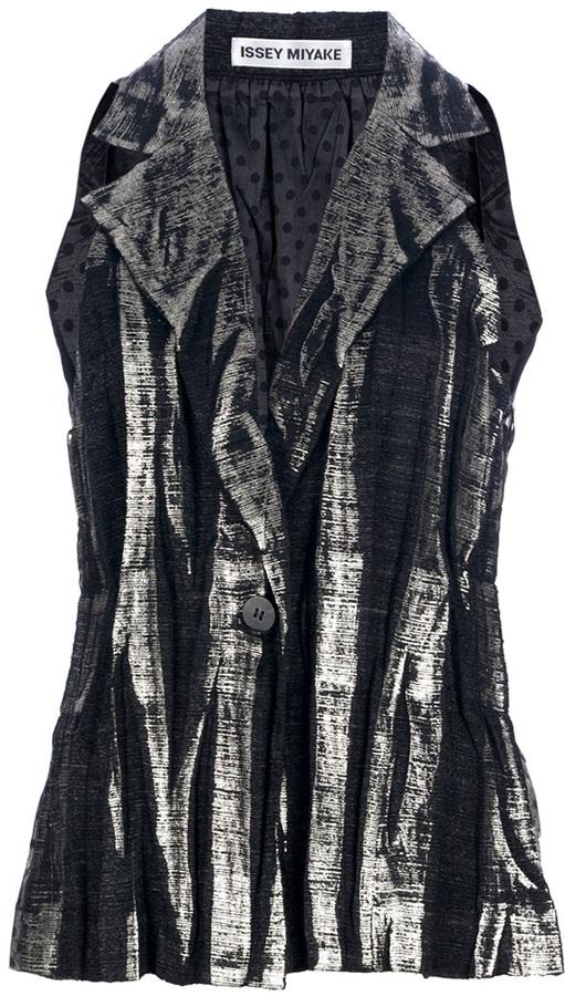 Issey Miyake metallic waistcoat