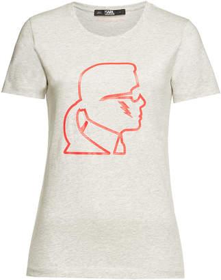 Karl Lagerfeld Ikonik Lightning Bolt Cotton T-Shirt
