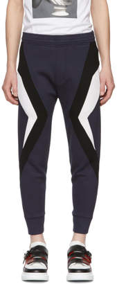 Neil Barrett Navy and Black Stripe Lounge Pants