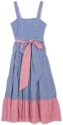 Rare Editions Big Girls Plus Striped Cotton Maxi Dress