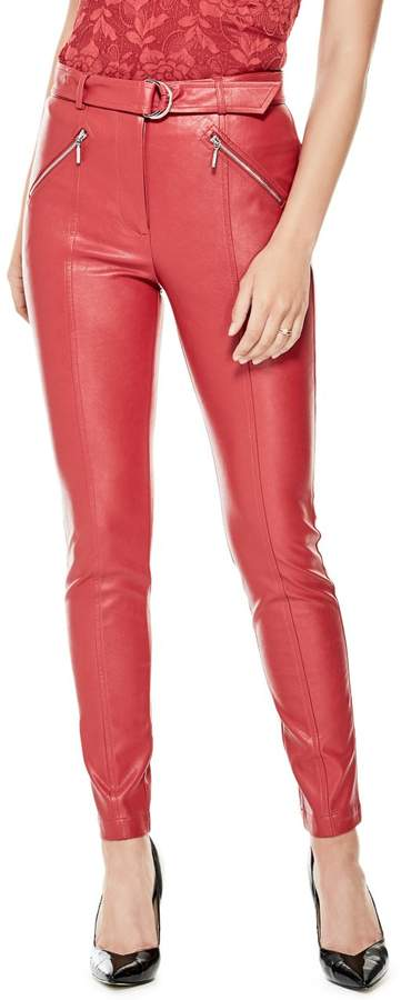 GUESS Women's Kate Moto Skinny Pants