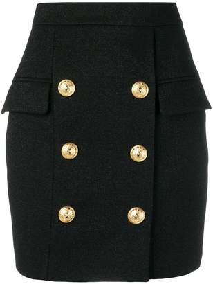 Balmain double breasted skirt