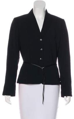 Tahari Striped Button-Up Blazer