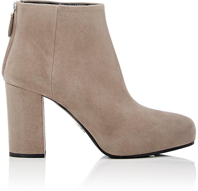 pradaPrada Women's Pointed-Toe Ankle Boots