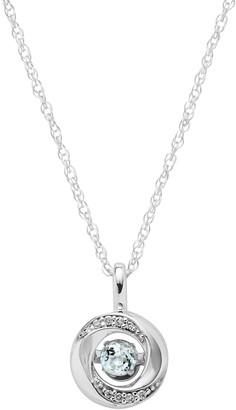 Brilliance+ Brilliance In Motion Brilliance in Motion Aquamarine & Diamond Accent Knot Pendant