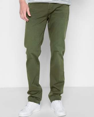 7 For All Mankind Total Twill The Straight with Clean Pocket in Olive