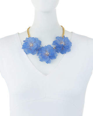 Romeo & Juliet Couture Triple Rose Statement Necklace