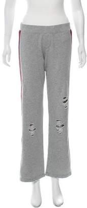 Pam & Gela Mid-Rise Distressed Pants