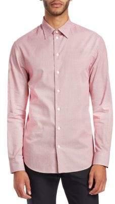 Emporio Armani Diamond Print Button-Down Shirt