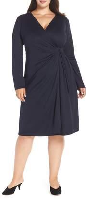 LOST INK Ponte Knit Wrap Dress