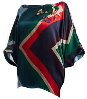 Marina Rinaldi Marina Rinaldi, Plus Size Printed Silk Tunic Blouse