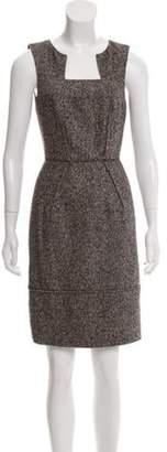 Oscar de la Renta Camel Hair & Wool-Blend Knit Dress Tan Camel Hair & Wool-Blend Knit Dress