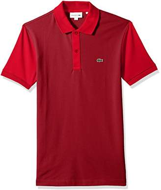 Lacoste Men's Short Sleeve Color Block Pique Pima Stretch Slim Polo