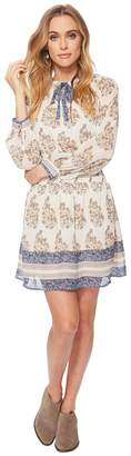 Lucky Brand Drop Waist Printed Dress Women's Dress
