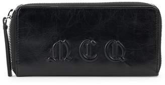 McQ Women's Logo Leather Zip-Around Wallet